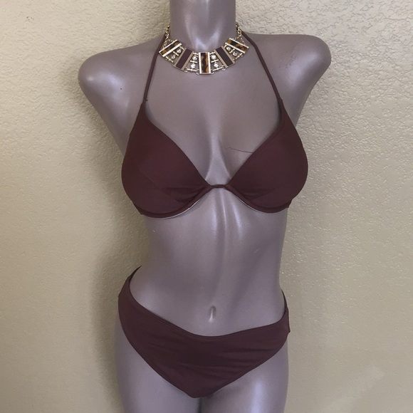 Victoria's Secret Other - Victoria Secret Brown Bikini Swimsuit 👙 34D - S